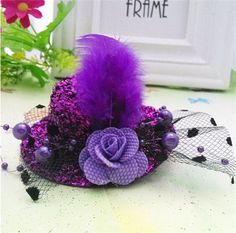 Christmas Gift 8cm Diameter Cap Hairpins Party Prom Hair Clip Fur Hat Children Flower Hair Accessories Women Barrettes