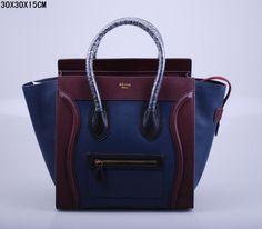 SAC CELINE LUGGAGE MINI CIEL BLEU / ROUGE MARRON / NOIR 1.Marque  : celine 2.Style  : celine Luggage Mini 3.couleurs : ciel bleu / rouge marron / noir 4.Matériel : Importer en cuir d'origine 5.Taille: W30 x H15 x D30 cm Celine Micro Luggage, Tote Handbags, Luggage Bags, Mini, Clutches, Totes, Style, Bags, Celine Bag