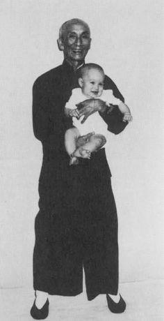 Bruce Lee's son Brandon with Yip man