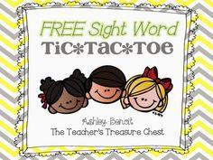 The Teacher's Treasure Chest: Sight Word Freebies!