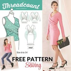 FREE wrap dress and top pattern to download (Diy Shirts Pattern)