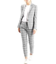 Topshop Premium Checked Suit Blazer and Trousers