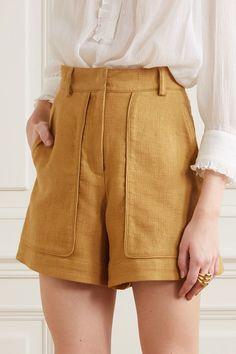 Vanessa Bruno - Iala linen and cotton-blend shorts Grunge Outfits, Trendy Outfits, Summer Outfits, Cute Outfits, Fashion Outfits, Fashion Shorts, Emo Outfits, Fashion Tips, Fashion 2020