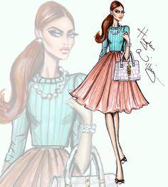 Hayden Williams Fashion Illustrations | 'Prim in Pastels' by Hayden Williams