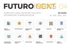 Very good Icons Futuro Next Icons / IT Pack—Hey guys! We're glad to share you the fourth series of icons from our new Futuro Next collection.