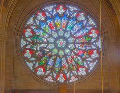 Gedächtniskirche der Protestation in Speyer. Glasfenster von Karl de Bouché 2015-07-03 Speyer Gedächtniskirche 1429 - 1433.jpg