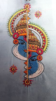 Embroidery ideas machine fabrics 56 ideas for 2019 Indian Embroidery, Embroidery Patches, Hand Embroidery Patterns, Embroidery Applique, Machine Embroidery, Saree Painting, Fabric Painting, Fabric Paint Designs, Embroidery Techniques