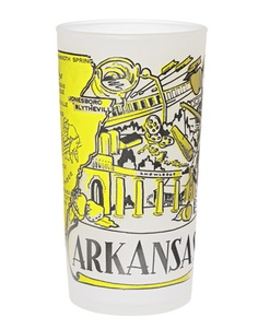 arkansas vintage glass - Scott's got to be pretty special to make my UT page with an Arkansas glass...