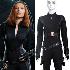 Captain America The Winter Soldier Black Widow Natasha Romanoff Cosplay Costume Costumes 2015, Movie Costumes, Diy Costumes, Cosplay Costumes, Halloween Costumes, Cosplay Ideas, Black Widow Costume, Black Widow Cosplay, Black Widow Avengers