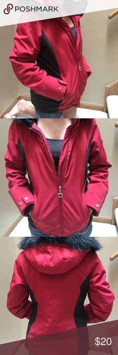 ZeroXposur Women's Winter Jacket worn but still in good condition. one small spot by zipper. red and black. detachable snap hood. very warm. ZeroXposur Jackets & Coats Puffers
