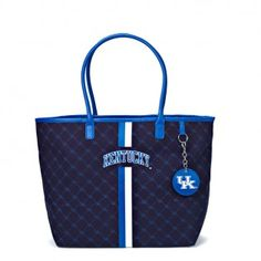 University of Kentucky Women's Clothing   Kentucky Wildcats Canvas Tote with Mirror Charm