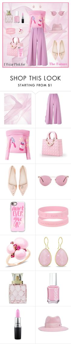 """""""The Pride in the Fight"""" by krusie ❤ liked on Polyvore featuring Roksanda, Jeremy Scott, Sophia Webster, Oliver Peoples, Casetify, Pomellato, Ice, Vera Bradley, Essie and MAC Cosmetics"""