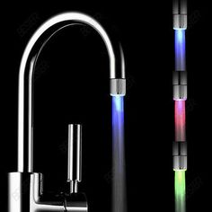 Automatic Temperature Glow - LED Faucet Light at www.golondonvintage.co.uk