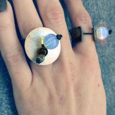 Chunky rings vintage leather and gemstones reclaimed metal.  #waternymphjewelry #waternymph #handmadejewelry #mystic #eclectic #statementjewelry #leather #vintage #woodenbeads #jewelryaddict #igmakers #semipreciousstones #ecofashion #moonstone #pebbledleather #bohemianbling #tribal #moderngypsy #hippiechic #chunkyrings #hematite #newdesigners #gemstones #wearableart #ringoftheday #boholuxe #lavastone #ethnic #slowfashion