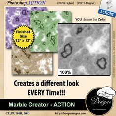 Marble Paper Creator by Boop Designs