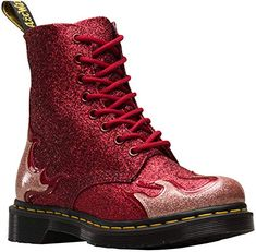 online shopping for Dr. Martens Women's 1460 Pascal Flame Coated Glitter Lace Up Boot Red from top store. See new offer for Dr. Martens Women's 1460 Pascal Flame Coated Glitter Lace Up Boot Red Dr. Martens, Doc Martens Stil, Dr Martens Stiefel, Botas Dr Martens, Red Doc Martens, Doc Martens Boots, Lace Up Boots, Black Boots, Leather Boots