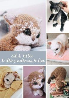 Animal Knitting Patterns, Willow Weaving, Knitted Cat, Ear Warmer Headband, Creative Workshop, Felted Slippers, Crochet Toys, Cat Crochet, Free Knitting