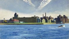 Edward Hopper, Blackwell's Island, 1928, oil on canvas, 87.63 x 1511.13 cm