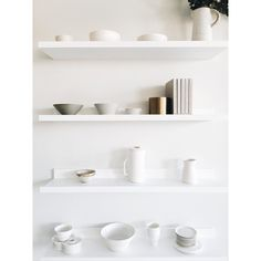 we're on the lookout for ceramicists who do their craft well and would be interested in a collaboration - drop a line ! White Floating Shelves, White Shelves, Interior Styling, Interior Decorating, Retail Store Design, Minimalist Kitchen, Scandinavian Interior, Interior And Exterior, Shelving