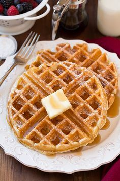 Belgian Waffles - this is my FAVORITE waffle recipe! Crisp outsides soft and moist insides and perfect buttermilk flavor.