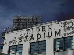 Tiger Stadium Demolition. Every sign and seat that had a D logo on it was sold on eBay.