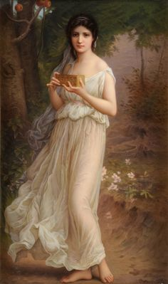 Pandora by Charles-Amable Lenoir (22 October 1860–1926) was a French painter. Like his mentor, William-Adolphe Bouguereau, he was an academic painte