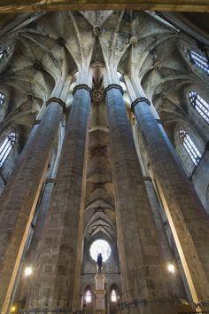 Santa Maria del Mar church, Barcelona. This church was featured in book I read.