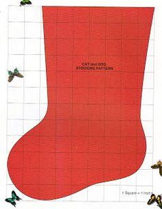 Bota de Natal - Feltro com Molde