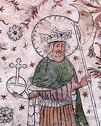 St Olaf of Norway patron of carvers[disambiguation needed]; difficult marriage; kings; Norway, Faroe Islands, Åland