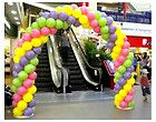 DIY balloon arches w/ or w/o helium  you will need 4-6 balloons per foot of frame.