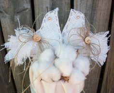 Wedding Bride Country Burlap Cake Topper by BlissfulBashfulBride, $49.99