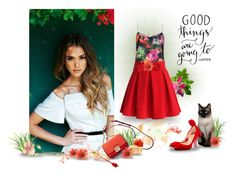 """""""Good Things are Going to Happen"""" by skr-designs ❤ liked on Polyvore featuring Ted Baker, Chicwish, Christian Louboutin and Coach"""