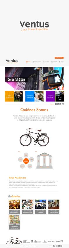Ventus - Un proyecto en el que trabajamos diseño y programación de sitio Web.