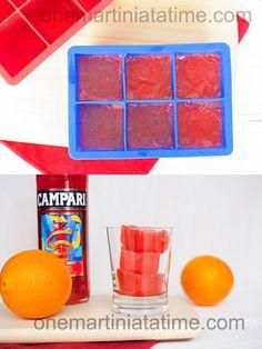 Campari Ice Cubes | 27 Important Recipes For People Who Love Campari