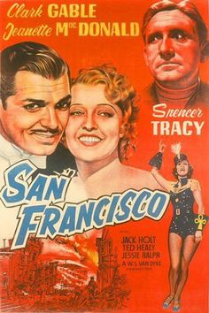 San Francisco Movie Poster / 1936 / Based on the April 18, 1906 earthquake.