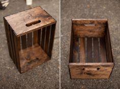 Reutiliza cajones de manzana para hacer un práctico mueble. Puedes disponerlos como más te guste para crear distintos diseños.