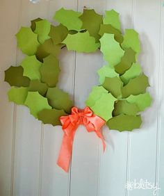 Create a holiday wreath out of paper! www.blitsycrafts.com #BlitsyCrafts