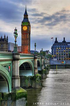 Big Ben in HDR, Westminster Bridge, London, England