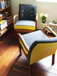 Refurbed Parker Knoll chairs by Flourish & Blume, $950 each