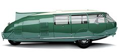 Dymaxion:  In 1933, the Dymaxion car was meant to be the crown jewel in wacky designer Buckminster Fuller's catalog of inventions. The oddly-shaped vehicle featured three wheels (two in front, one in back).