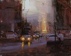 Twilight Study by Tibor Nagy Oil ~ 7.9 x 9.8