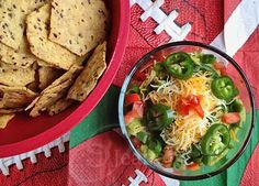 9 Layer Mexican Dip © Jeanette's Healthy Living #football #gameday #dip #recipe #superbowl