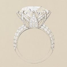 Tiffany's lotus flower ring was designed to showcase a 17.99-carat diamond with consummate beauty.