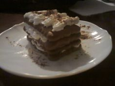 small cake with cookies, coffee and chantilly, delicious and simple