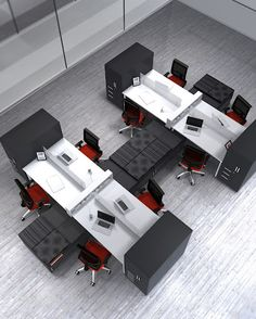 Open Office Workstations designed to support an open office environment. Choose one of these versatile office furniture workstations for the perfect space plan Open Concept Office, Open Office Design, Open Space Office, Industrial Office Design, Office Interior Design, Office Interiors, Office Cubicle, Office Workspace, Bureau Design