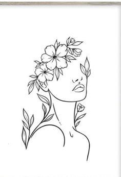 Art Drawings Sketches Simple, Pencil Art Drawings, Art Abstrait Ligne, Art Visage, Abstract Face Art, Outline Art, Diy Canvas Art, Minimalist Art, Embroidery Art