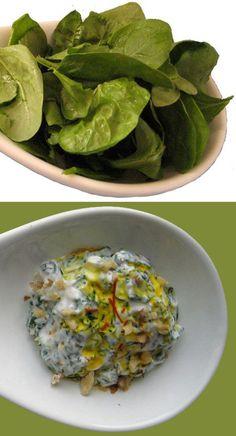 Spinach borani (Borani 'e Esfenaj) - a simple, classic Persian side ...