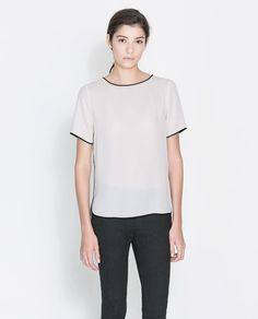 Fancy - BLOUSE WITH CONTRASTING EDGING