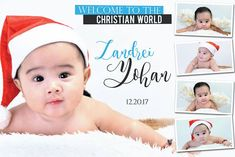Cute and unique design Santa Baby Hi and welcome once again to this another post where you can find and get different themes a. Christening Themes, Christening Invitations Boy, Baby Boy Christening, Baby Invitations, Printable Invitations, Birthday Tarpaulin Design, Peppa Pig Birthday Outfit, Hello Kitty Crafts, Baby Photo Frames