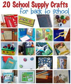 20 School Supply Crafts for Back to School